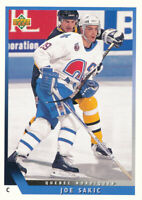Joe Sakic 1993-94 Upper Deck #69 Nordiques Hockey Card