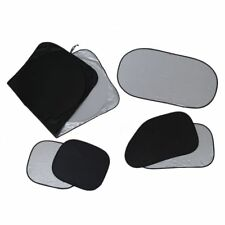 6Pcs Folding Silvering Reflective Car Window Sun Shade Visor Shield Cover W O6J1