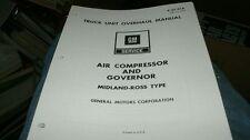 1973 1974 CHEVROLET GMC TRUCK MIDLAND AIR COMPRESSOR SERVICE OVERHAUL MANUAL