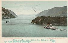 The Highlands Hudson River New York Stamped 1908 #D28