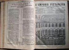 L'EMPORIO PITTORESCO. ILLUSTRAZIONE UNIVERSALE ED. SONZOGNO ANNO 1871