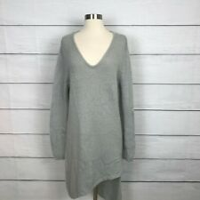 One Teaspoon For Urban Outfitters Sweater Dress Size L Gray Asymmetrical V Neck