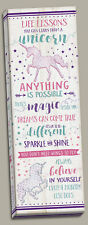 Inspirational Life Lessons You Can Learn from A Unicorn Panel; One 8x20in Canvas