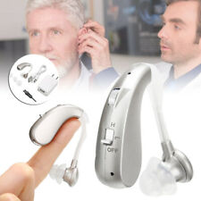 Digital Hearing Aid Rechargeable Voice Sound Amplifier Invisible Behind Ear Set