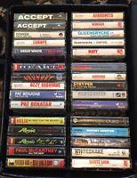 Lot Of 30 Vintage 1980's Heavy Metal Hard Rock Soft Rock Cassettes