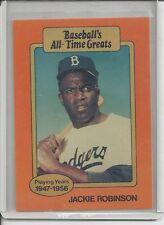 RARE - 1987 BASEBALL ALL-TIME GREATS JACKIE ROBINSON CARD - BROOKLYN DODGERS