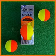 Srixon Q-STAR TOUR DIVIDE (Orange / Yellow) - 3 NEW ORANGE & YELLOW Golf Balls
