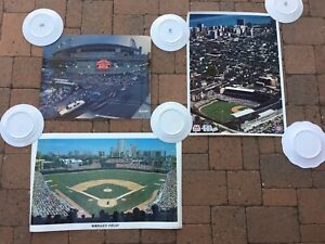 Lot of 3:  Chicago Cubs Wrigley Field photographs / prints / posters