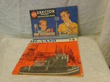 Vintage Meccano 5 languages Printed England & Gilbert Erector book 1959 lot of 2