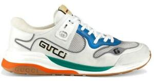 NEW GUCCI MEN'S CURRENT ULTRAPACE MULTI COLOR LEATHER LOGO SNEAKERS SHOES 9/9.5