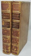 1841 LEATHER 2 VOL SET HISTORY BRITISH FISHES 500 ILLUS LIBRARY SIR MOSLEY BARON