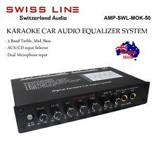 NEW SWISS LINE MOK-50 AUDIO DIGITAL KARAOKE CAR EQUALIZER PRE AMP