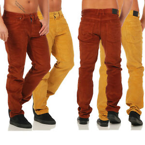 PANTALONI UOMO BEIGE stretch straight fit l30 Arizona twillhose breve-Tg 58 29
