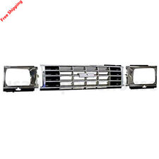 New For TOYOTA PICKUP Fits 1984-1986 Front Grille Chrome & Headlight Door 3Pic