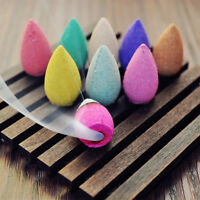 25pcs Smoke Tower Cones Bullet Backflow Incense Hollow Cone 9 Scent 3*1.2cm UK Q