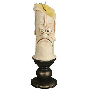 "12"" Bethany Lowe Grumpy Face Candle Retro Vntg Halloween Figurine Mantle Decor"