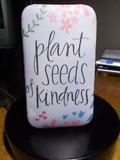 "MANICURE SET ""PLANT SEEDS OF KINDNESS"" BLACK LETTERS 6 TOOLS INCLUDED"
