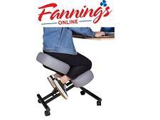 DRAGONN Ergonomic Kneeling Chair for Home & Office, Gray, Missing Wheels