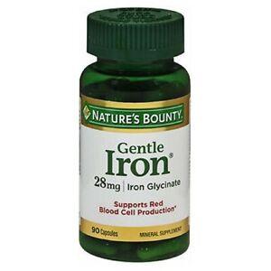 Nature's Bounty Gentle Iron 90 caps 28 mg