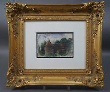 Anna Peters (1843 - 1926) - Blick auf Anwesen - Aquarell