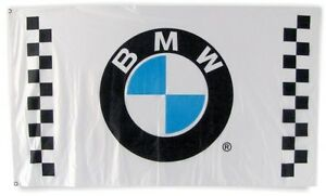 Big NEW BMW FLAG BANNER SIGN CHECKERED POWER 3X5 FEET M5 M6 M3 SERIES M4 COUPE