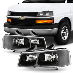 03-17 Chevy Express/GMC Savana Van Black Housing Upper High-Low Beam Headlight