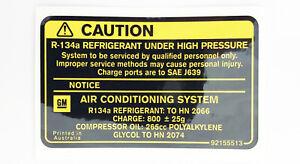 HSV & Holden V2 VT VU VX VY WH WK Engine Bay A/C Caution Decal Badge Sticker NOS