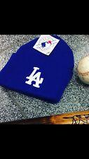 Vintage LOS ANGELES DODGERS MLB WINTER Knit CUFFED BEANIE CAP HAT NEW NWT VTG
