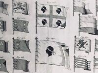 Rarissime Drapeau Corse en 1778 Pavillons de Marine Étendard Bannière Corsica