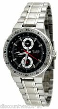 Casio EF314D-1AV Men's Edifice Stainless Steel Black Dial Multifunction Watch