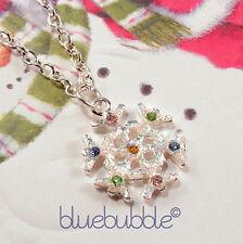 Funky Diamante Copo De Nieve Collar Lindo De Fiesta De Navidad encanto colgante Moda Regalo
