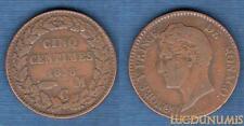 Monaco – 5 Centimes Honoré V 1838 MC TB / TTB RARE (1)
