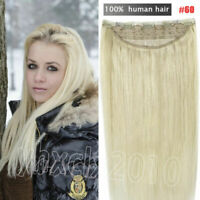 16-30inch One Piece Clip in 100% Remy Human Hair Extensions Full Head Set THICK!