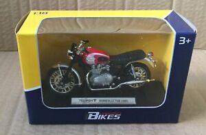 LEGENDARY BIKES- TRIUMPH BONNEVILLE T 100 1/18 MOTORCYCLE DIECAST,WELLY, MIB