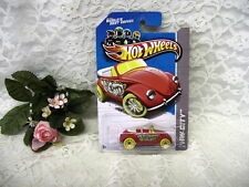 HOT WHEELS RED VOLKSWAGON BEETLE HW CITY VW  MATTEL 2012 NIP