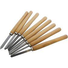 8 PEZZI LEGNO GIREVOLE Set scalpelli per TORNIO TORNITURA TURNER falegname E1050
