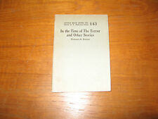 1920 Honore de Balzac In the Time of Terror and Other Stories Uncommon