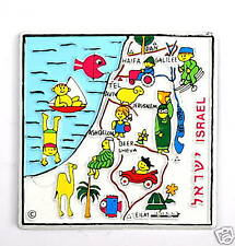 Israel Map Relief Colorful Magnet,  Holy Bible Land Israeli State Souvenir Gift