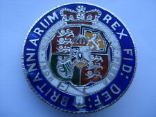 1818 GEORGE 111 HALF CROWN SIX COLOUR HAND ENAMELLED COIN