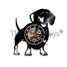 Dachshund Dog Vinyl Record Clock Pet Animal Wall Clock Decor Dog Lover Gift