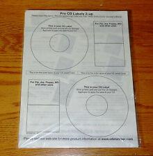 Cd Stomper Pro Cddvdblue Rayzip Floppy Jewel Case Insert Set Blank Labels