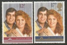 Gb Mnh Scott 1154-1155, 1986 Prince Andrew Wedding, set of 2