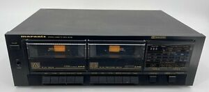 Marantz SD 156 Dual Audio Cassette Deck Recorder Tested! EB-5638