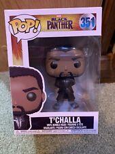 "New FUNKO POP #351 "" T'Challa"" Black Panther Marvel Movie Vinyl Boxed Figure Mib"