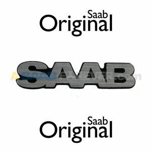 NEW SAAB Grille Emblem 900 86-94 - SAAB TEXT Genuine OEM DISCONTINUED - 9289869