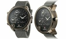 NEW Bernoulli 9788 Men's 3-Time Zone Chronograph Chimera Series Grey/Black Watch