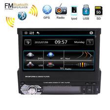 "Single 1 Din 7"" HD GPS  Bluetooth Car Stereo Radio MP5 Player Touch USB AUX FM"