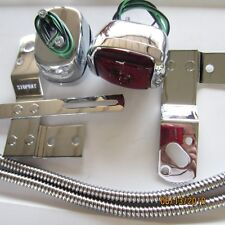 1940 -1953 Chevy truck taillight kit, chrome lights, brackets & wire covers.