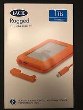 LaCie Rugged 1TB External USB 3.0/Thunderbolt Portable Hard Drive