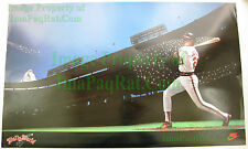 Vintage NIKE Baseball Poster WALLY WORLD Joyner California Angles VHTF PDC Stock